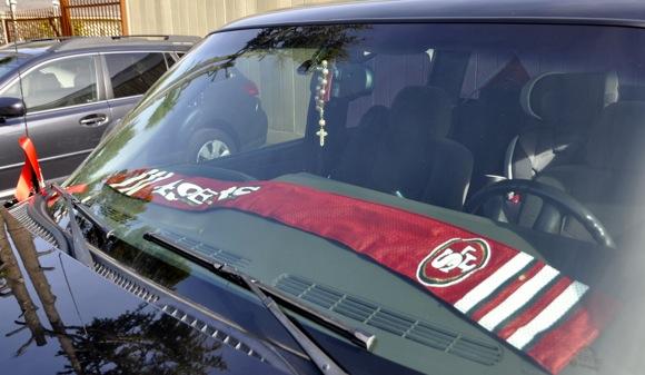 Spotted: 49er fan spirit descends on Menlo Park