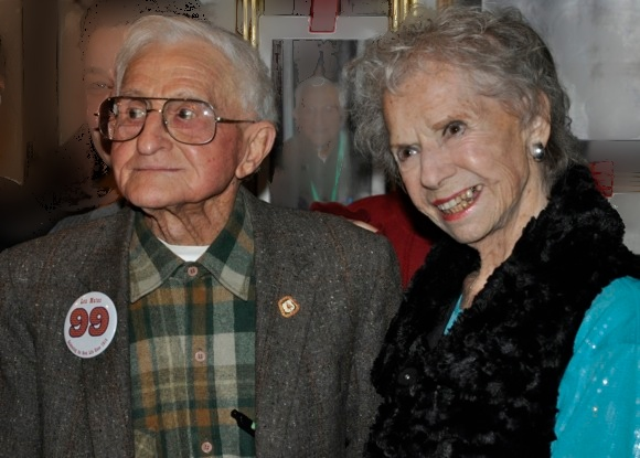 Longtime Atherton resident Louis Matas celebrates his 99th birthday with family and friends