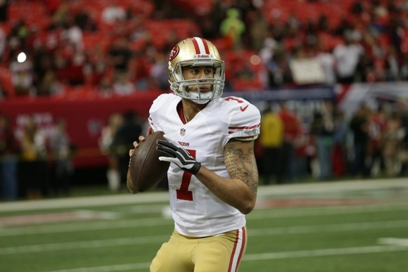 San Francisco 49er quarterback Colin Kaepernick