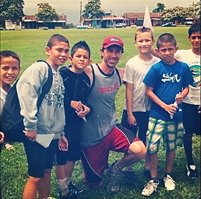 Matt Bond at lacrosse camp in Costa Rica