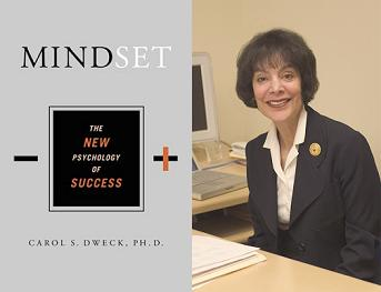 Dr. Carol S Dweck and book jacket