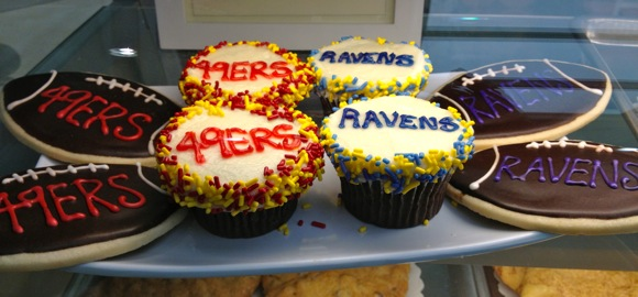 49er treats at SusieCakes in Menlo Park