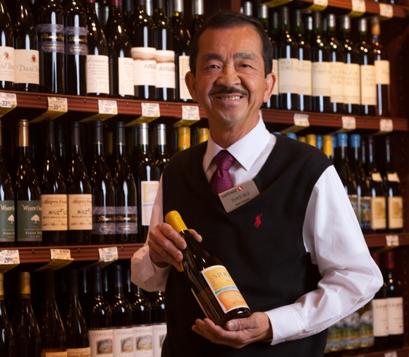 Thys Bui is wine steward at Safeway on El Camino in Menlo Park