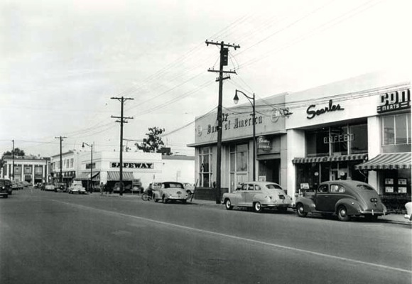 downtown Menlo Park circa 1950