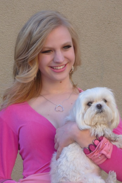 Hanna Berggren, star of M-A's Legally Blonde spring musical