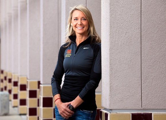 Lori Stenstrom, girls and boys swimming coach at Menlo Atherton High School