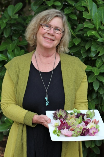 Susan Ogle with hellebore_assorted