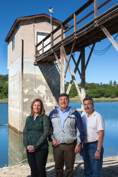 California Water Service management staff at Bear Gulch Reservoir