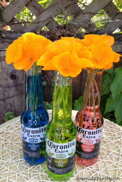 Cornita bottles with poppies