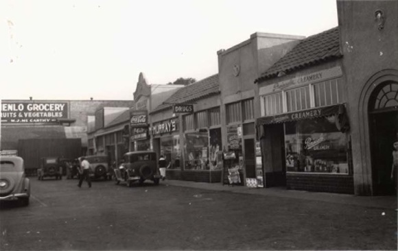 downtown Menlo Park in the 1930s