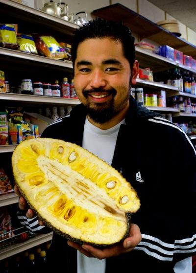 Ken Kurose brings exotic fruit to Nak's Oriental Market