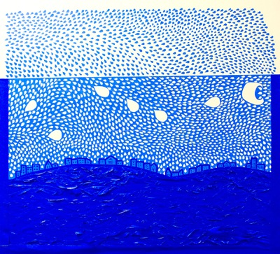 Starry Night Over the Rhone, Andrew Dahlkemper, blue tape, 2013