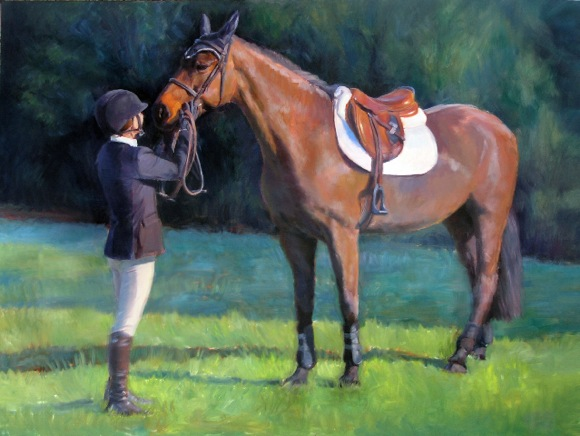 Menlo Charity Horse Show painting for 2013