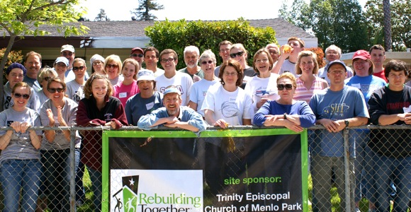Volunteers from Trinity Church in Menlo Park participate in Rebuilding Together Peninsula