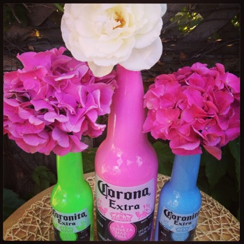 Celebrate Cinco de Mayo with these colorful, beer bottle vases