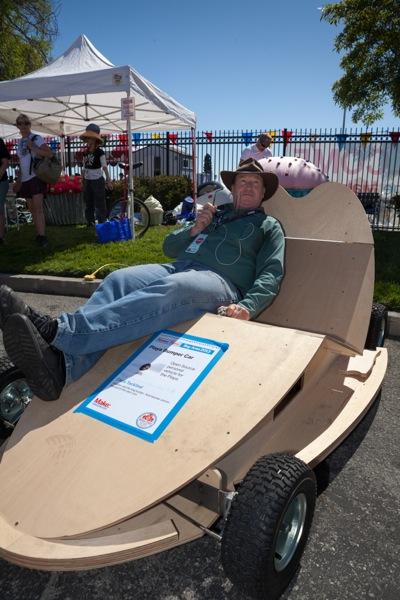 Chris Tackland and his playa car at 2013 Maker Faire