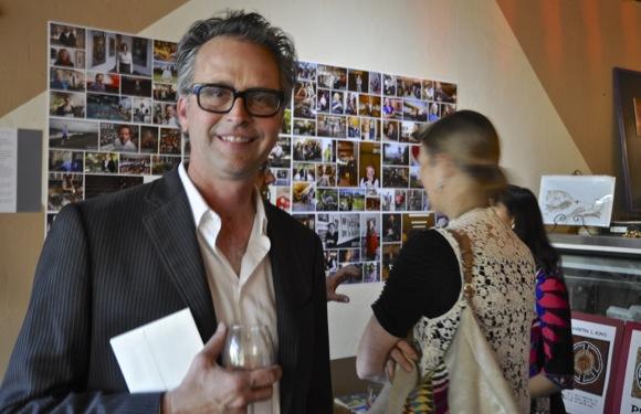 Celebration of InMenlo photographers at Scott Kline's photo exhibit at Café Zoë