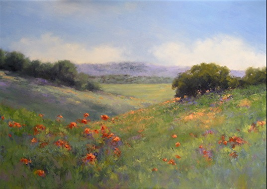Poppies With A View by Menlo Park painter Alice Weil