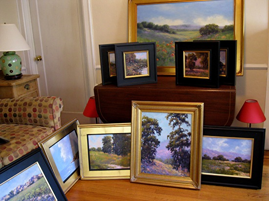 Alice paintings in living room