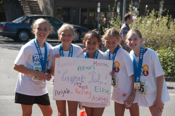 2013 Menlo Park Kids Triathlon particpants