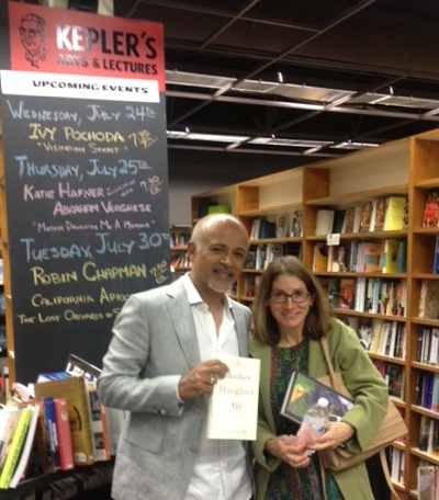 Authors Abraham Verghese and Katie Hafner in conversation at Kepler's in Menlo Park