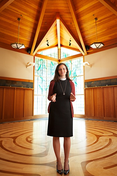 The Rev. Elizabeth Riley photographed in chapel at Trinity Church Menlo Park by Scott R. Kline