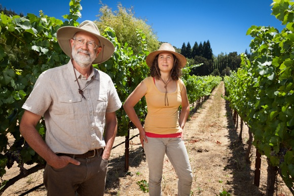 Len and daughter Debbie Lehmann photographed at Portola Vineyards by Scott R. Kline