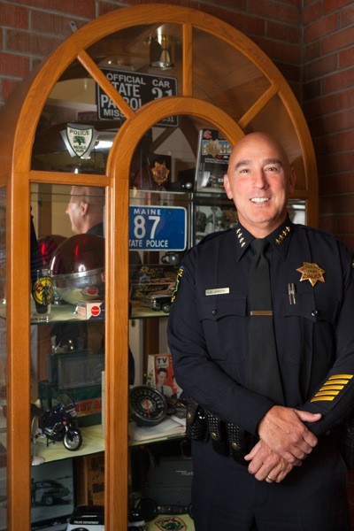Menlo Park Police Chief Robert Jonsen photographed by Scott R. Kline