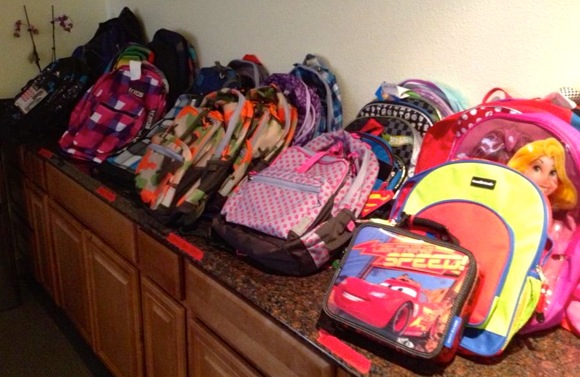 School-age residents at Haven House in Menlo Park are backpack ready