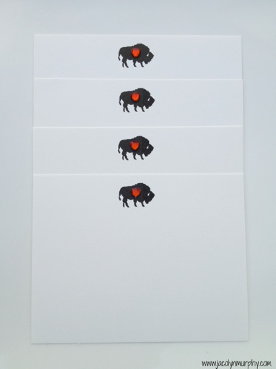 Buffalo with heart_stationery