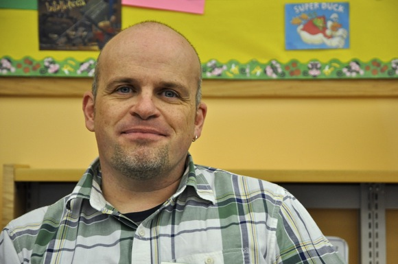 Menlo Park Library's John Weaver spins tales for school-age kids every Thursday afternoon