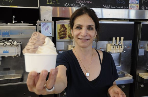 Soheila Khalili of The Yogurt Stop in Menlo Park