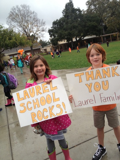 """Spotted: """"Are You In?"""" signs at Laurel School wrap up MPAEF parent campaign"""