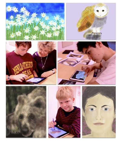 Caroline Mustard's newly-minted iPad artists show off their work after six-week Menlo Park Rec Dept class