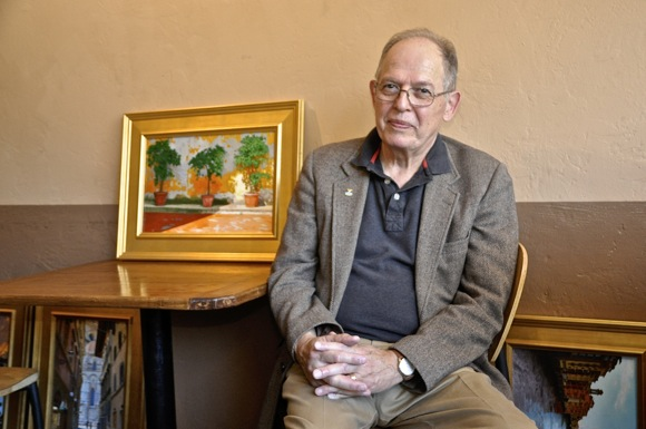 Post image for Retired M-A teacher Joseph Fuchs returns to Menlo Park with art exhibit at Cafe Zoë