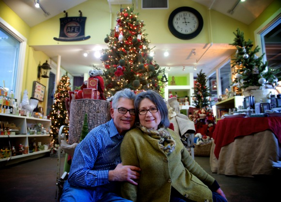 Juan and Mercedes Navarro offer a mix of garden and gifts at their Ladera Country Shopper nursery