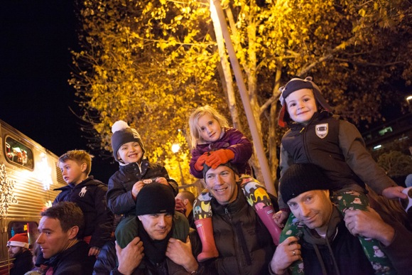 Kids at Santa train_Laura