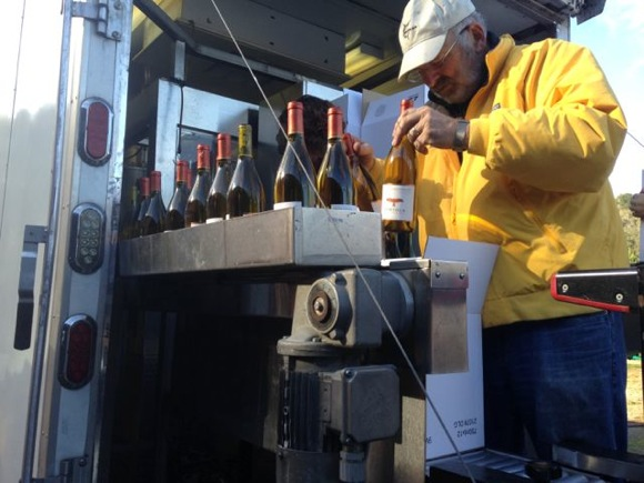 Post image for Bring in the trucks to bottle Portola Vineyards 2012 Pinot Noir vintage