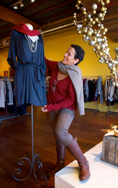 Malika, owner of Gitane clothing store in downtown Menlo Park