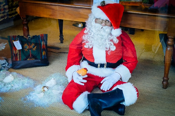 It's a wrap – and Santa is exhausted