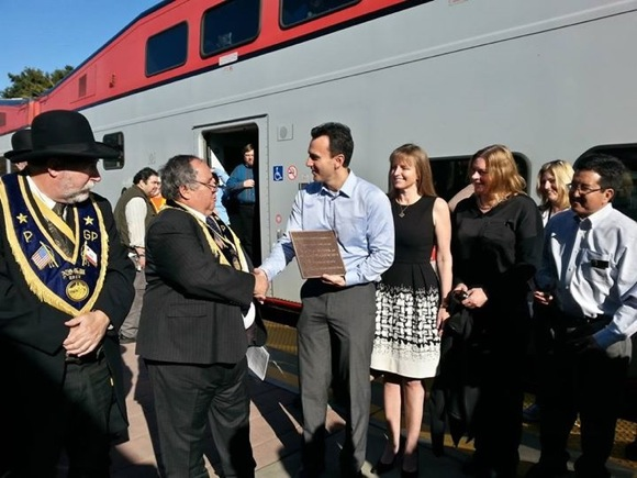 Post image for Caltrain celebrates 150 anniversary of rail service with a stop in Menlo Park