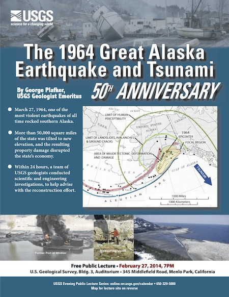 Post image for Topic of Feb. 27 USGS evening lecture is 1964 Alaska earthquake