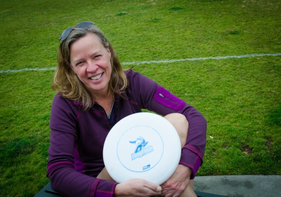 Ultimate Frisbee player Jen Overholt