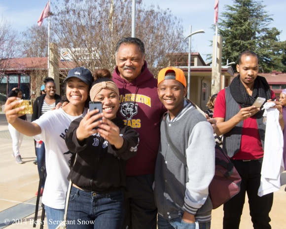 The Rev. Jesse Jackson at Menlo-Atherton High School