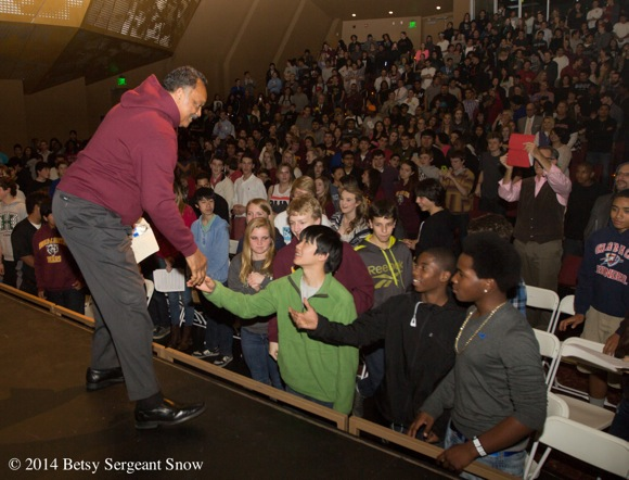 Post image for M-A students reflect on the Rev. Jesse Jackson's visit to their school
