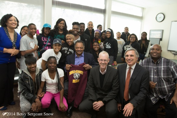 M-A students reflect on the Rev. Jesse Jackson's visit to their school