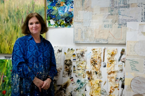artist Joyce Savre photographed by Irene Searles at her studio