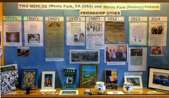 The tale of Two Menlos on display at the Menlo Park Library through February