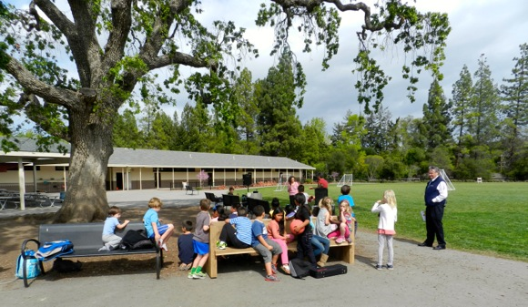Post image for Buddy Bench is unveiled at Oak Knoll School so that no buddy gets left behind