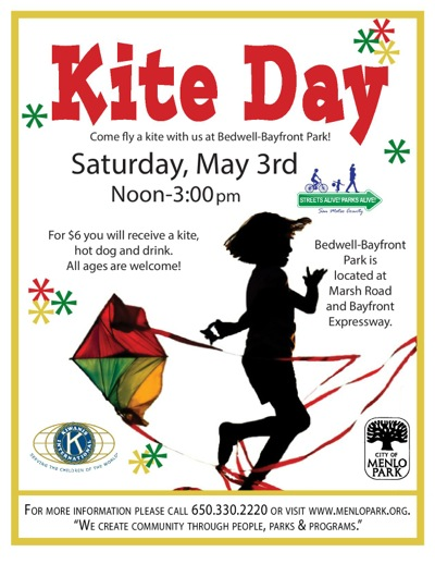 Kite Day set for May 3rd at Bedwell Bayfront Park in Menlo Park